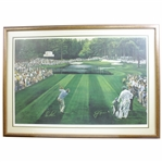 "Ltd Ed ""Sunday in Augusta"" Print Features Jack & Arnie at 16th Hole - Framed 975/1000"