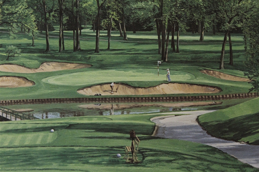 1990 Ltd Ed US Open at Medinah 13th Hole Print Signed by Artist Linda Hartough 760/850
