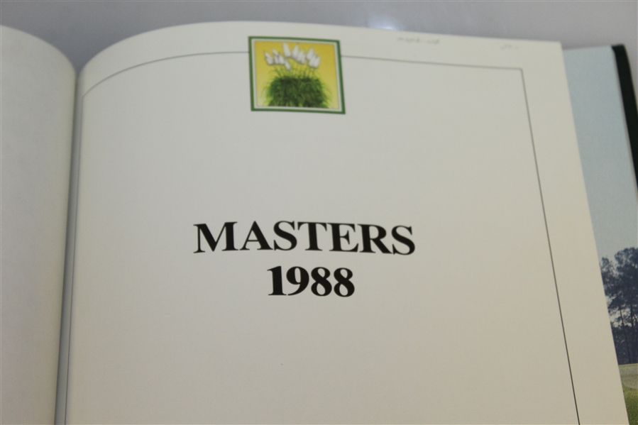 1988 Masters Tournament Annual Book - Sandy Lyle Winner