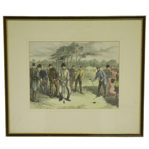 1869 Match at Blackheath by Frederick Gilbert Wood Block Engraving Reproduction