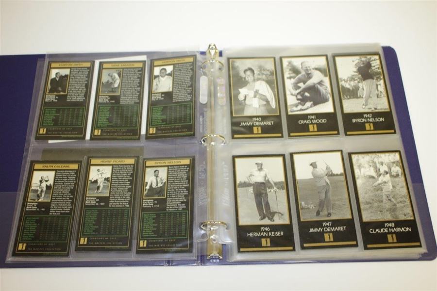 Masters Collection Champions of Golf Card Set from Grand Slam Ventures 1934-1998