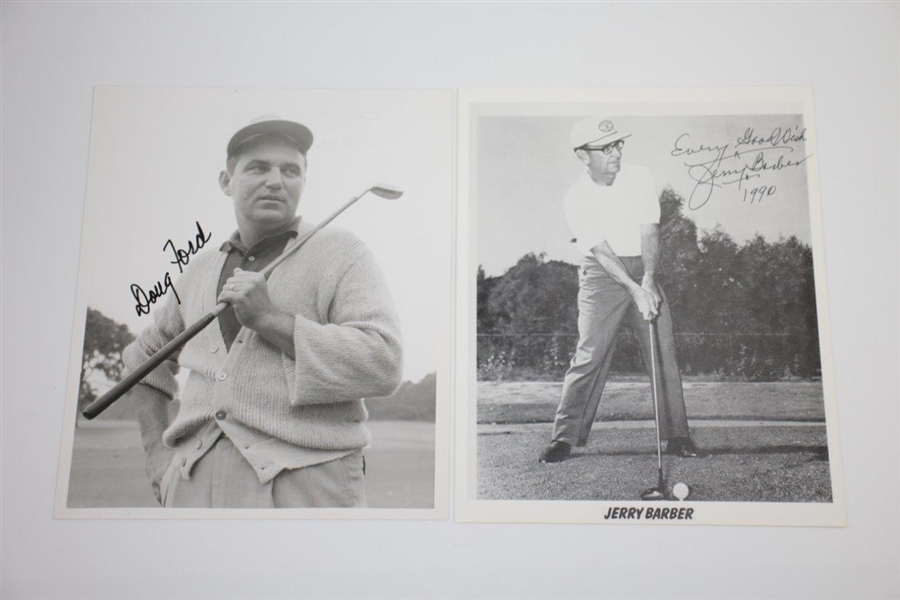 PGA Champs Doug Ford, Lionel Hebert, Chick Harbert, & Jerry Barber Signed 8x10 Photos JSA ALOA