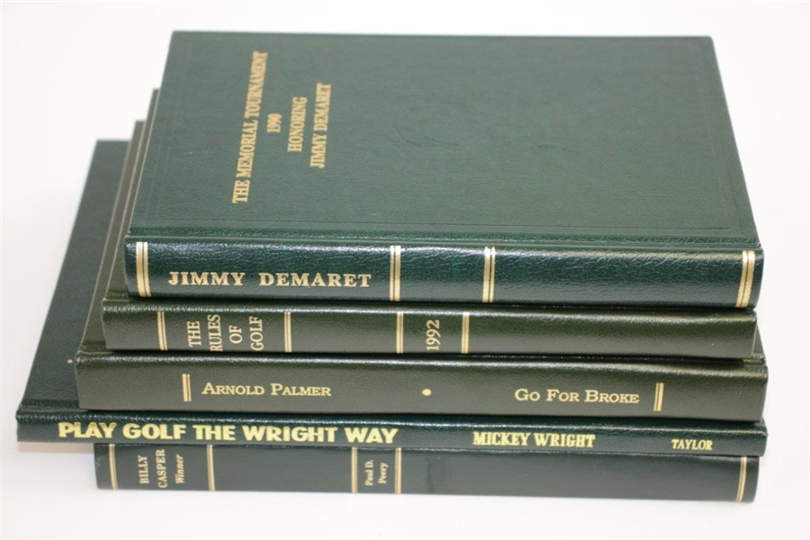 1990, 1992-1995 Ltd Ed Memorial Honoring Books - Demaret, Dey, Palmer, Wright & Casper