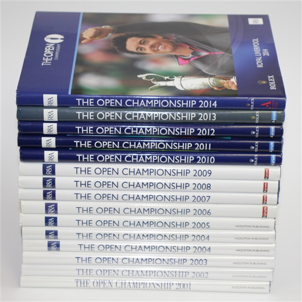 Fifteen The OPEN Championship Journals - 2001-2014 (Multiple 2004)