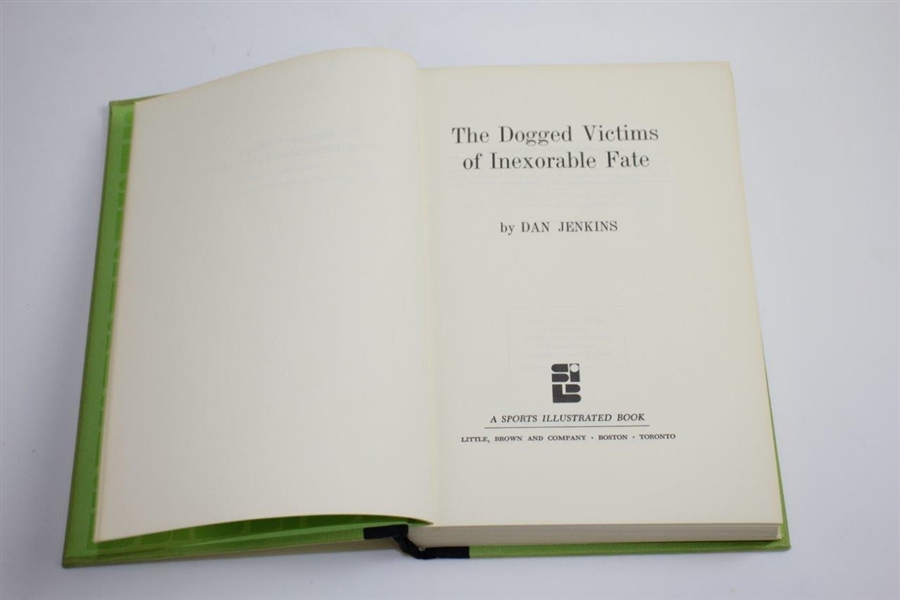 1970 'The Dogged Victims of Inexorable Fate' by Dan Jenkins & Inscribed to Price
