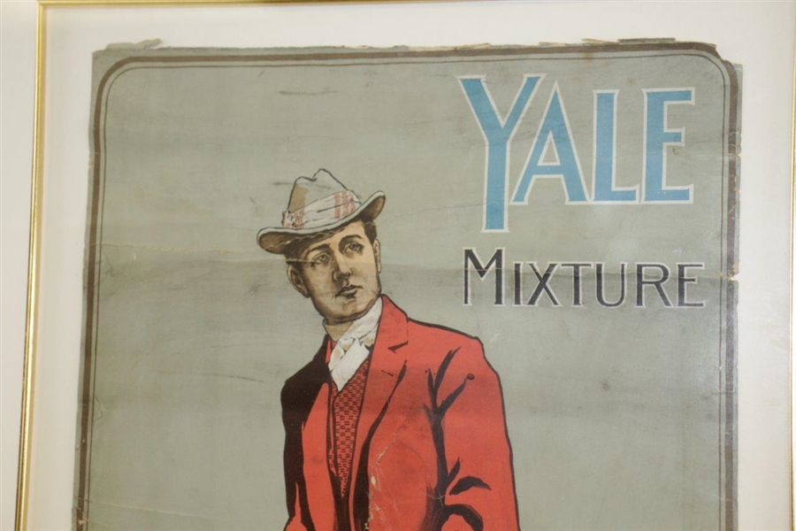 Circa 1910 Yale Mixture Advertising Poster - Framed