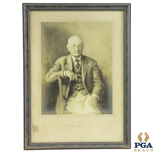 1928 HC Fownes of Oakmont CC Signed Print Done By Ralph W Johnston - Trinity Ct Studio Pitts. JSA ALOA