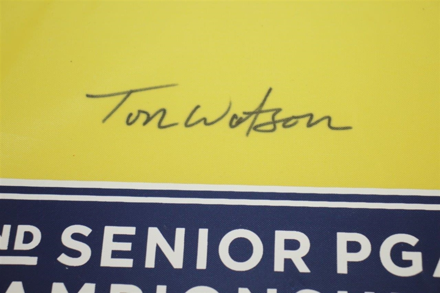 Tom Watson Signed 2011 72nd Senior PGA Championship Pin Flag JSA ALOA