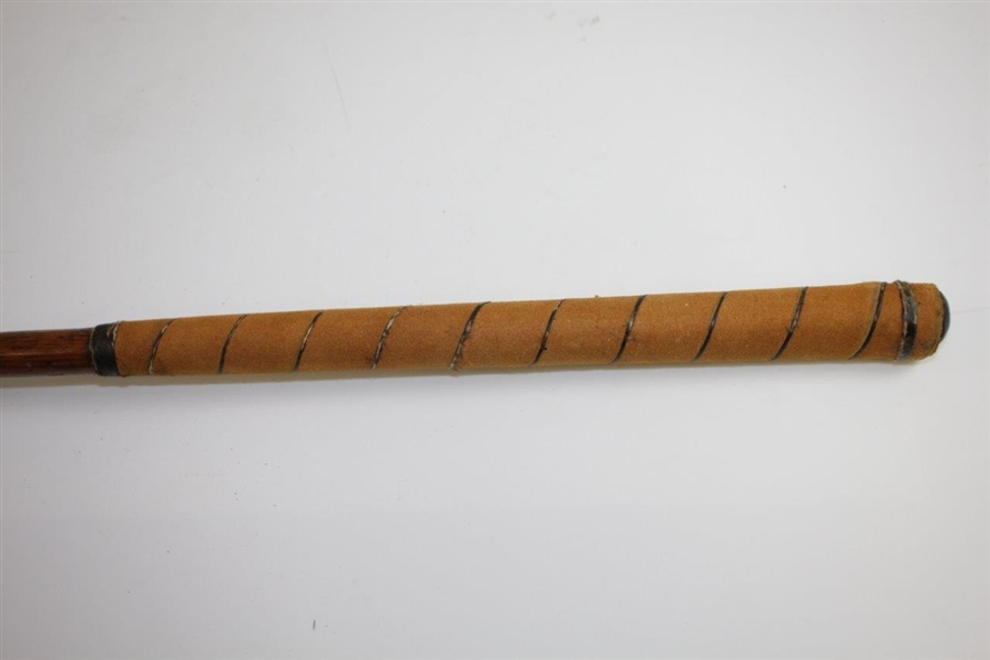 Circa 1900 McEwan Splice Neck Wood Stamped McEwan with Lead Weight & Horn Insert