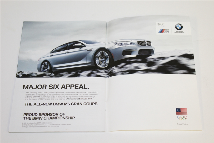 Jim Furyk Signed BMW Championship Program JSA ALOA