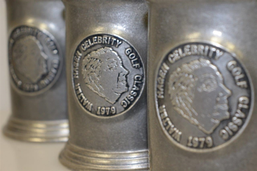 1979 Walter Hagen Celebrity Golf Classic Pewter Tankards / Steins Set