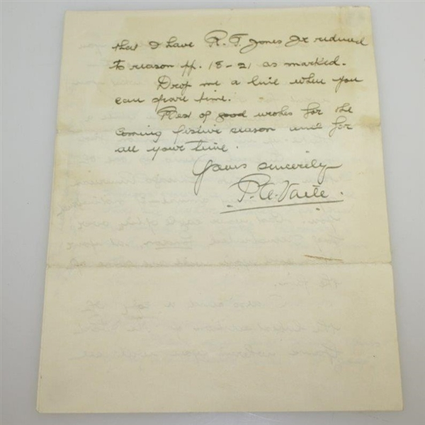 Author P.A. Vaile 1932 4 Page Handwritten Letter - Rod Munday Collection JSA ALOA