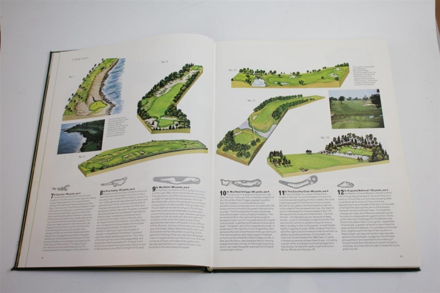 1976 'The World Atlas of Golf' Book by Pat Ward-Thomas & Charles Price with others
