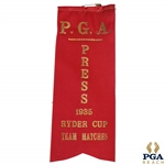 1935 Ryder Cup Team Matches P.G.A. Press Red Ribbon - Excellent Condition