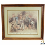 1978 Artists Proof Golf Immortals World Golf Hall Of Fame Dom Lupo Lithograph
