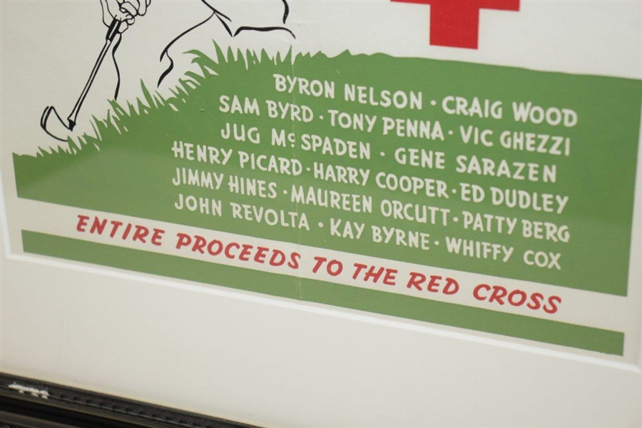 Red Cross The Best Golf in the World at Wykagyl CC Ticket Advertising Poster - New Rochelle, NY