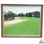 Pinehurst 2 Course 5th Hole Original Oil On Board Painting Signed by Artist Mil Radler - 1979