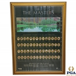 1994 The Masters Japanese Broadcasting Time Display Poster with Champs 1934-1992