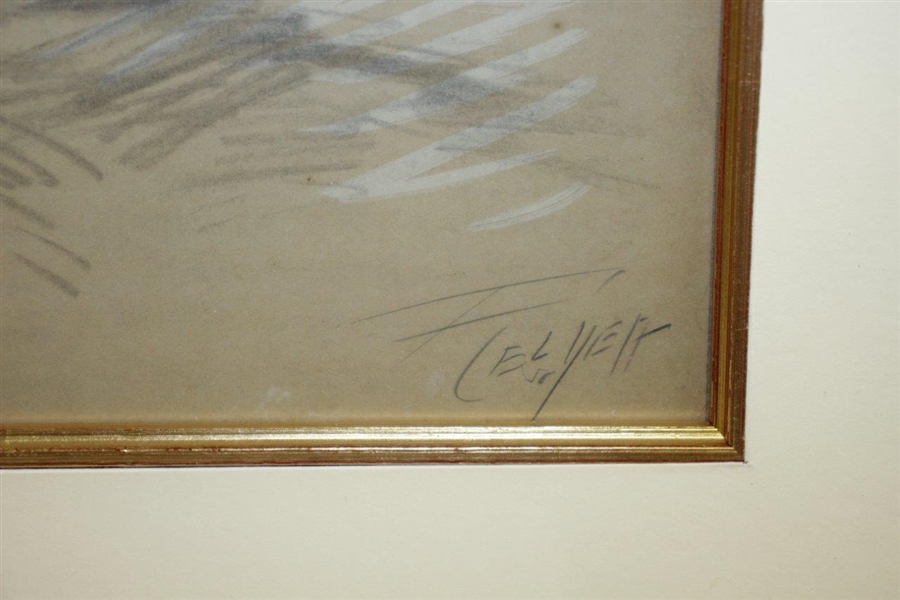 Original Ink, Pencil, Chalk And Gouache On Board Signed by Artist - Framed