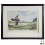 "1990 ""The Caddie"" Artists Proof Golf Print Signed by Artist Robert Wade - Gifted to The World Golf Hall Of Fame"