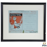 1895 Vol 1 No. 5 Golfing Magazine For Sale Here Ad - Framed