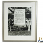 PGA of America Dedication at Augusta National Clubhouse - Tom Walsh & George Jacobus Photo