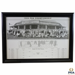 1924 PGA Championship Field Print Featuring Photo of Players, Key, & Results - Framed