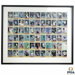 1980 PGA Tour Limited Edition 60 Top Money Winners Sports Card Set Uncut Sheet - Framed