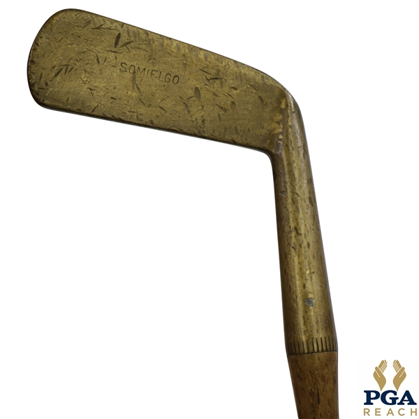 Somielgo Brass Putter with Wrapped Grip