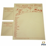 Undocumented 1931 Johnny Walker Cup Matches Letterhead & Envelopes - Played June 25, 1931
