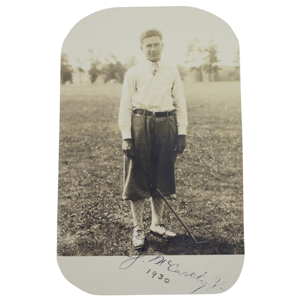 George Pietzcker Original Photo of Maurice McCarthy Jr. Dated  - '28 & '32 Walker Cup Member