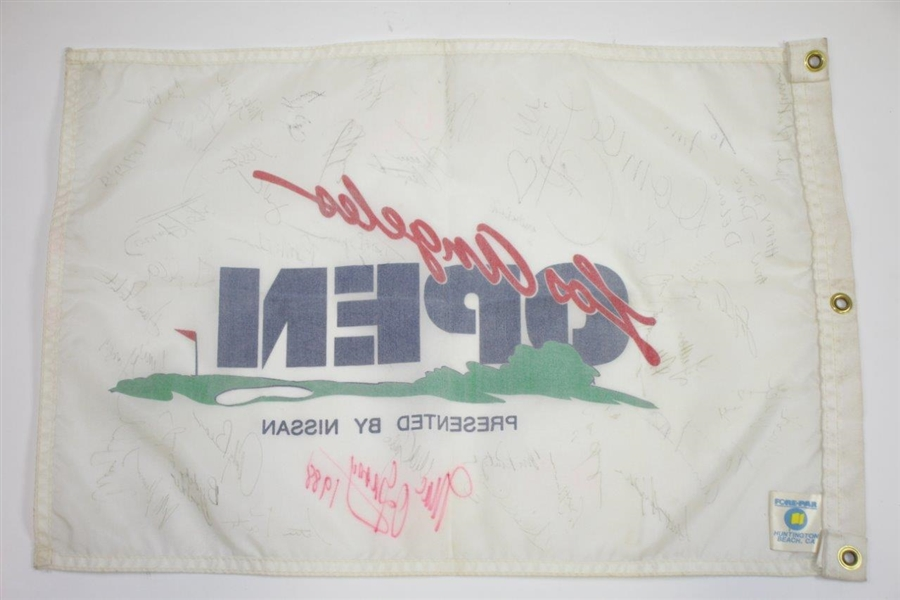 Seve Ballesteros & others Signed Classic Los Angeles Open Golf Flag JSA ALOA