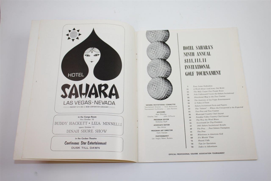 Jack Nicklaus Signed 1966 Sahara Invitational Golf Tournament Official Program JSA ALOA