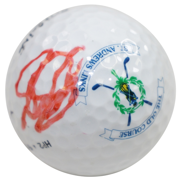 John Daly Signed Old Course at St. Andrews Logo Golf Ball - Site of OPEN Win JSA ALOA