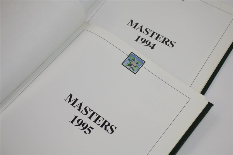1994 & 1995 Masters Tournament Annuals