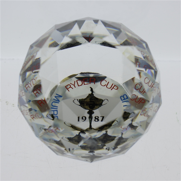 Mark Calcavecchia's 1987 Ryder Cup at Muirfield Team Cut Crystal Member Gift