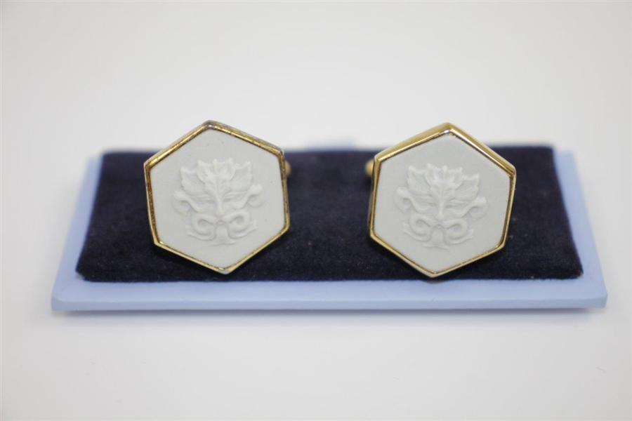Mark Calcavecchia's Wedgwood Whistling Straits Logo Cuff Links in Original Box