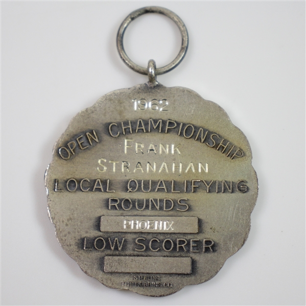 Frank Stranahan's 1962 Sterling US Open Local Qualifying Rounds Low Scorer Medal - Phoenix