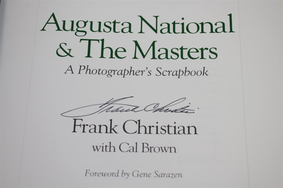 Augusta National & The Masters 'A Photographer's Scrapbook' Signed by Frank Christian JSA ALOA