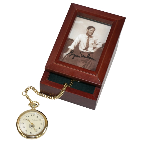 Byron Nelson 'Eleven Straight' Ltd Ed Pocket Watch w/ Signed Box BECKETT #S27077