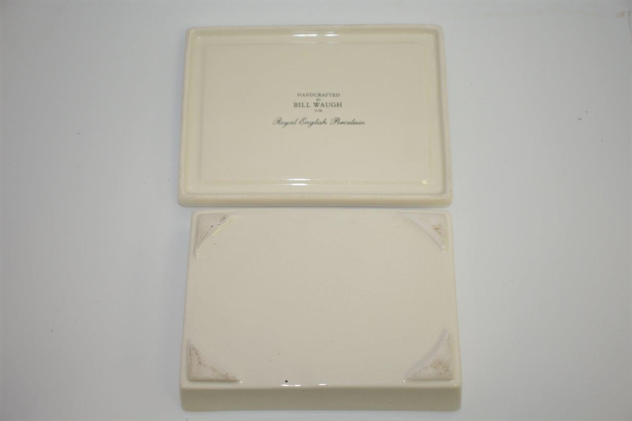 Augusta National Golf Club Clubhouse Royal English Porcelain Handcrafted by Artist Bill Waugh