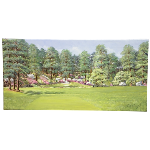 Augusta Hole #12 Golden Bell Ltd Ed Artist Enhanced Giclee Canvas Print by Bill Waugh #7/20