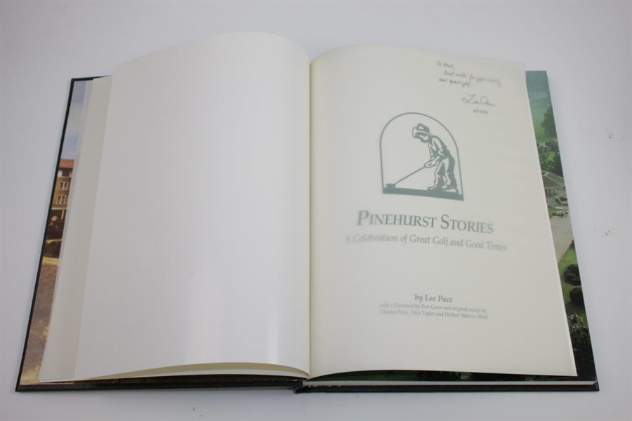 Ltd Ed Pinehurst Stories: A Celebration of Great Golf & Good Times by Lee Pace with Slipcover #196