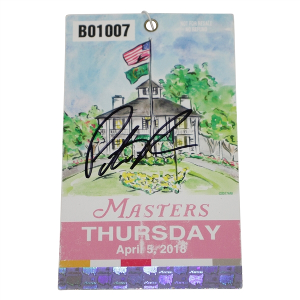Patrick Reed Signed 2018 Masters Ticket #B01007 JSA #CC66583