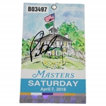 Patrick Reed Signed 2018 Masters Saturday Ticket #B03497 JSA #DD12950