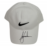 Tiger Woods Signed White Nike Adjustable Hat FULL JSA #BB02595