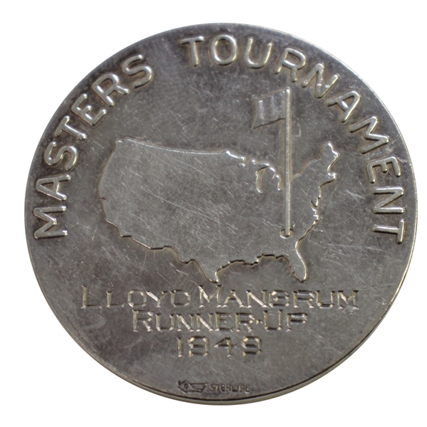 1949 Masters Tournament Silver Runner-Up Medal Awarded to Lloyd Mangrum
