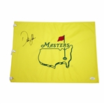Dustin Johnson Signed Undated Masters Embroidered Flag JSA #DD31637