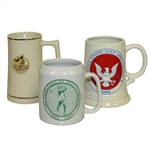Ceramic Mugs - 1894 USGA, 1989 PGA Championship At Palmer Lakes, 1888-1988 The Centennial Of Golf In America