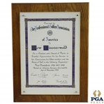 PGA Citation & Award of Merit to Dow Finsterwald - December 12, 1978